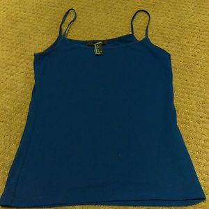 Forever 21 blue tank top
